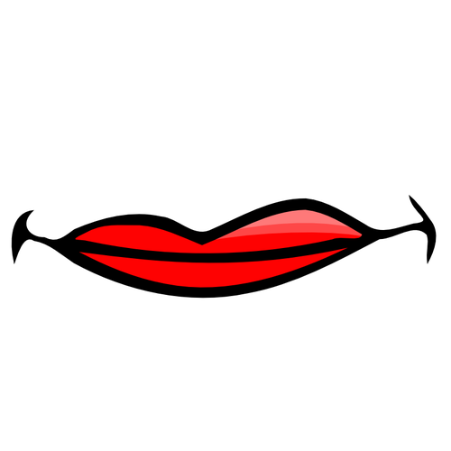 500x500 Red Female Lips Vector Image Public Domain Vectors