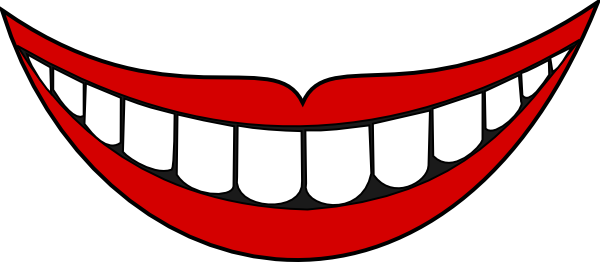 600x262 Smile Clipart Mouth Tongue