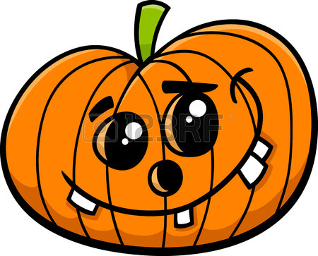 450x363 Cartoon Illustration Of Halloween Jack Lantern Pumpkin Royalty