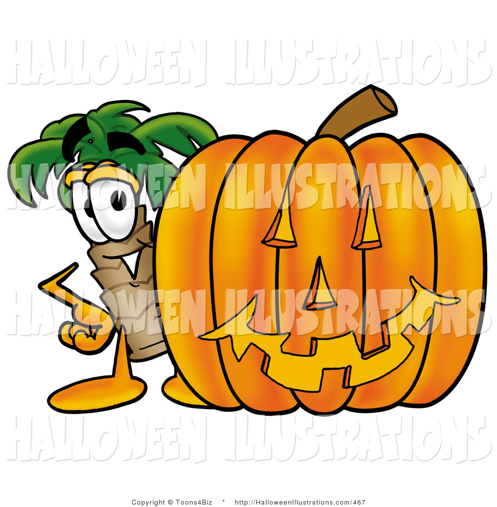 1024x1044 Halloween Clip Art Of A Smiling Palm Tree Mascot Cartoon Character