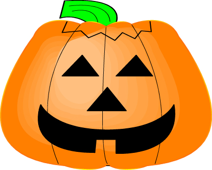 433x347 Happy Pumpkin Clipart