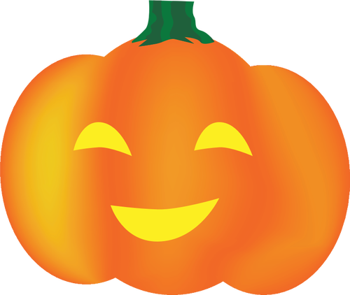 500x422 Orange smiling pumpkin vector clip art Public domain vectors