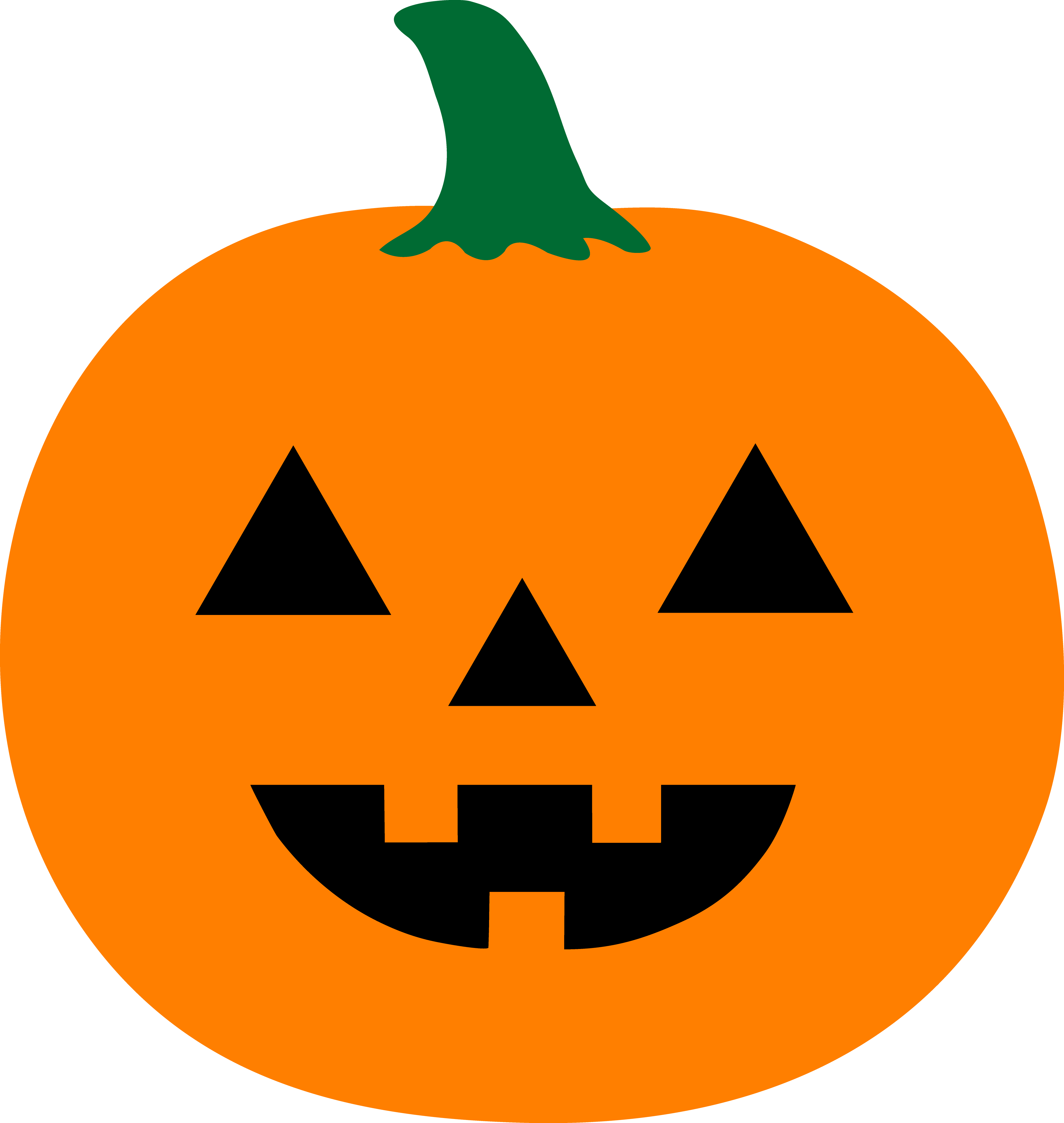 4249x4485 Simple Halloween Jack O Lantern