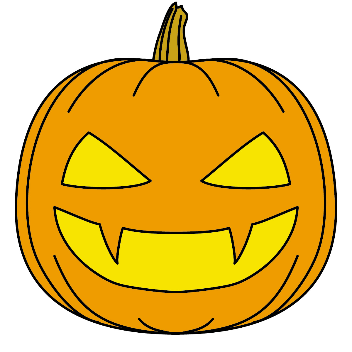1200x1200 Happy Face Clipart Pumpkin