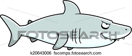 450x193 Clip Art Of A Cartoon Shark From The Profile Vi K20643006
