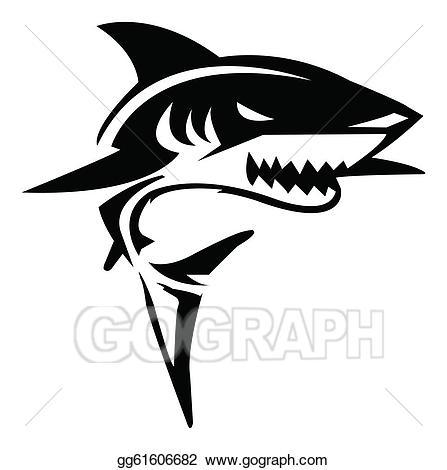 447x470 Shark Clip Art