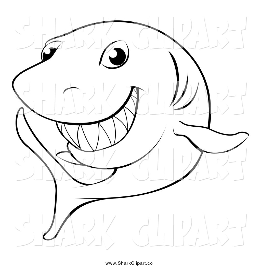 1024x1044 Shark Clipart Black And White Clipart Panda