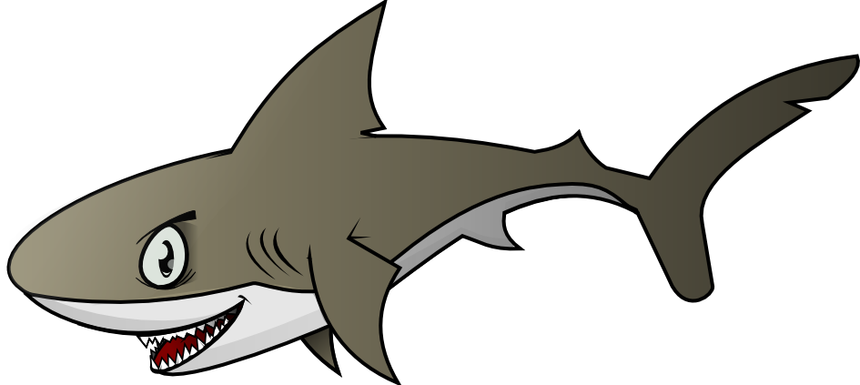 945x423 Shark Clipart Cute