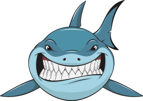 500x354 Shark clipart funny