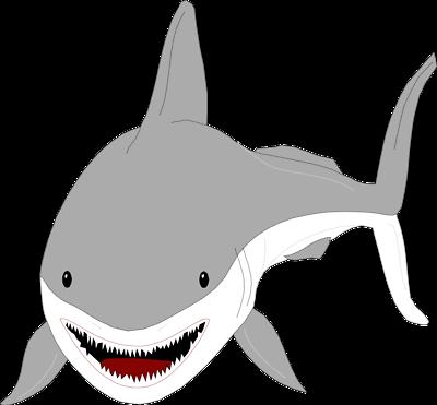 400x371 Shark fin clip art smiling clipart size 3