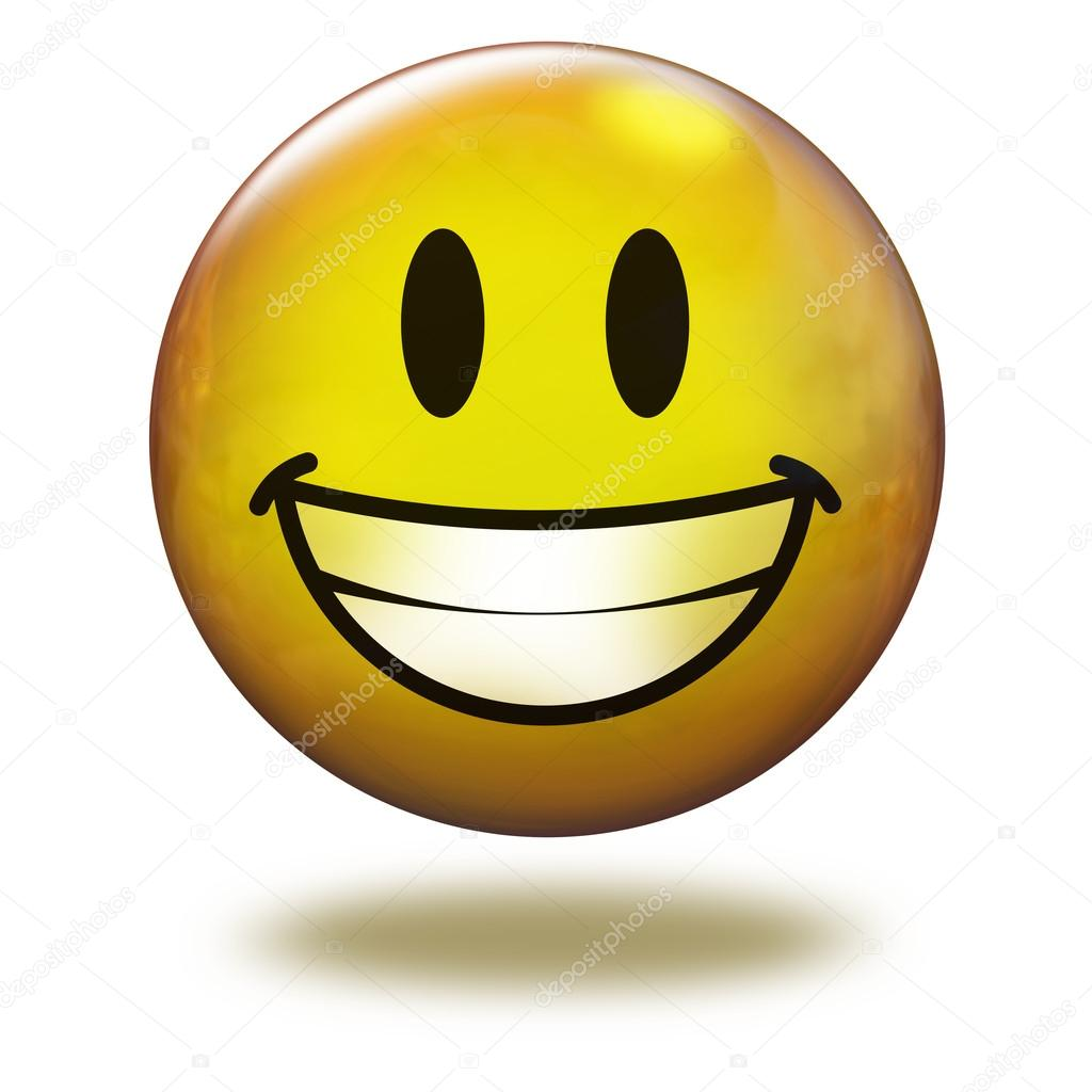 1024x1024 Render Emoticon 3d. Smiling With Teeth Stock Photo Benjaminet