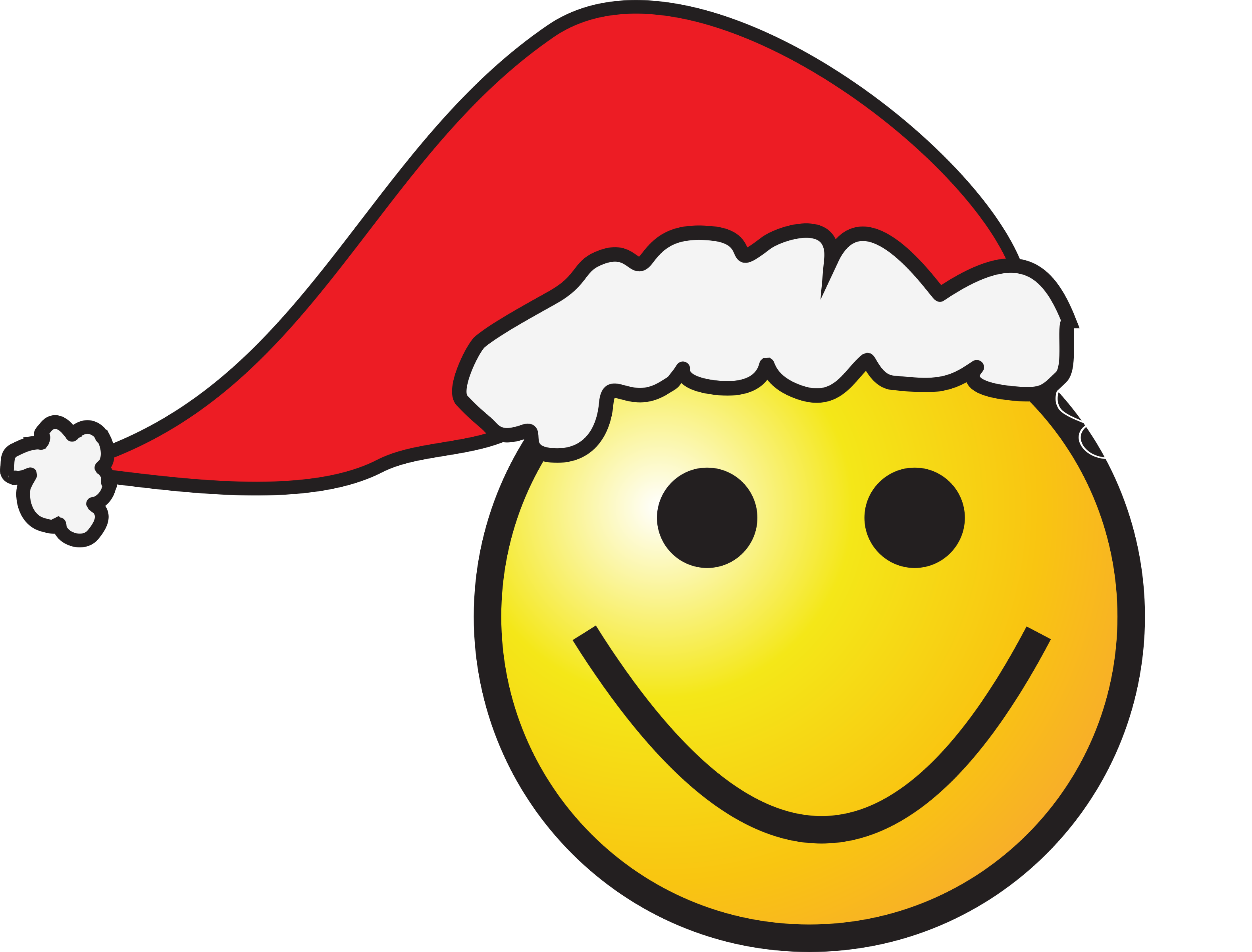 3154x2400 Santa Clipart Smiling