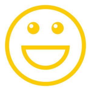 300x300 Smile Glyph Icon Royalty Free Stock Image
