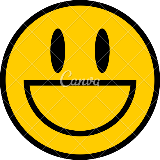 550x550 Smiley Icon Smiling Face Flat Style