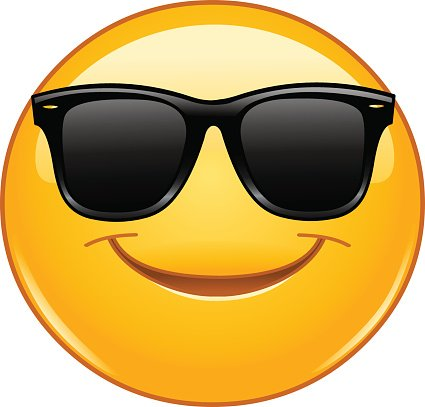 425x407 Smiling Emoticon With Sunglasses Premium Clipart
