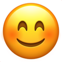 256x256 Smiling Face With Smiling Eyes Emoji U 1f60a