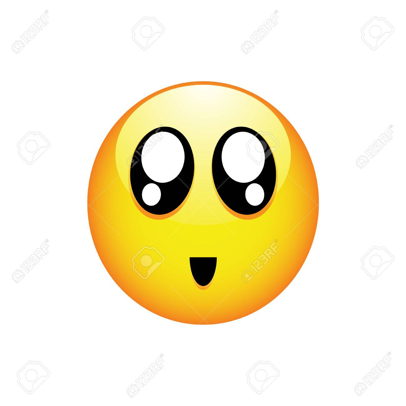1300x1300 Smiling Smiley With Black Eyes And Rosy Cheeks. Vector
