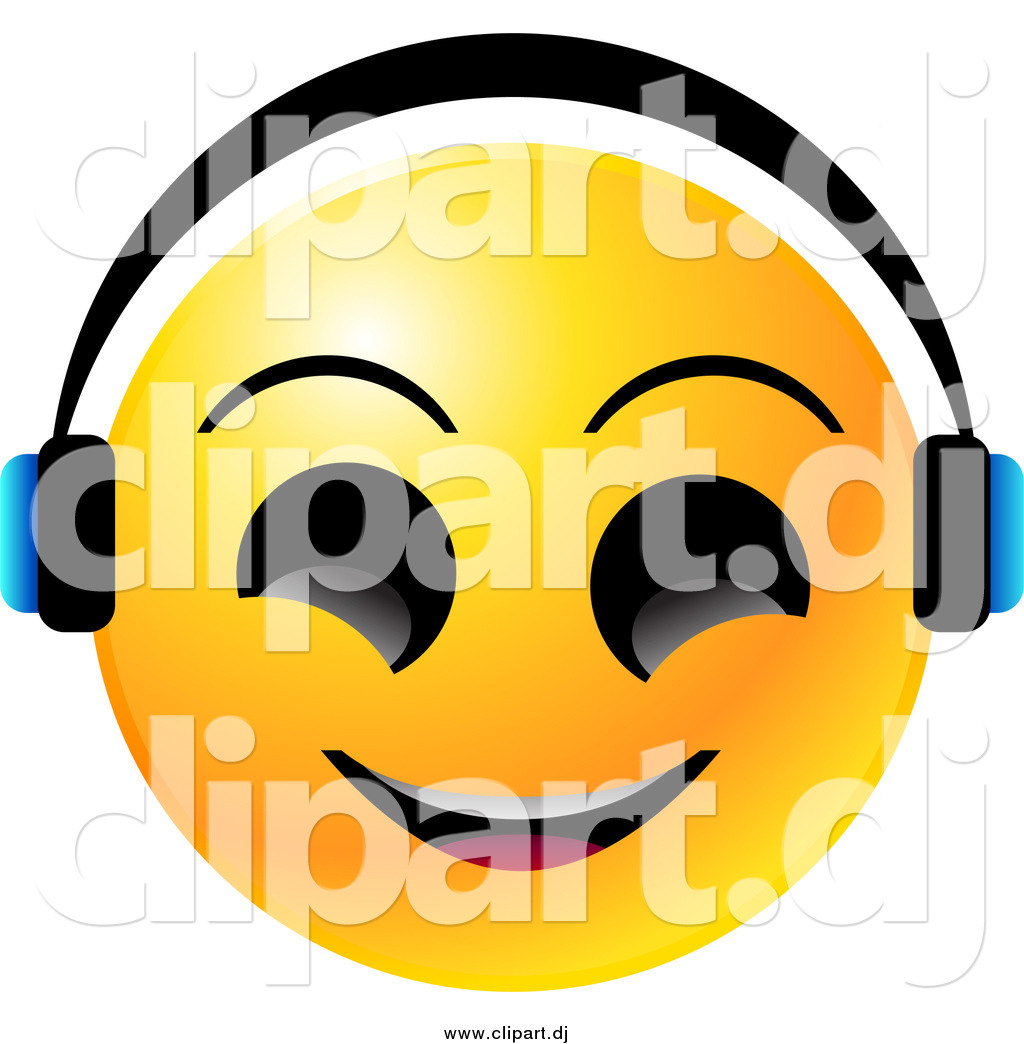 1024x1044 Vector Clipart Of A Yellow Emoticon Face Smiling And Wearing