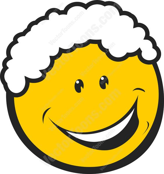 565x600 White Curly Hair Smiling Yellow Emoticon Cartoon Clipart