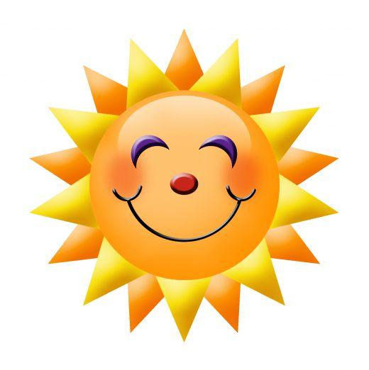 520x522 Clip Art Smiling Sun Clipart