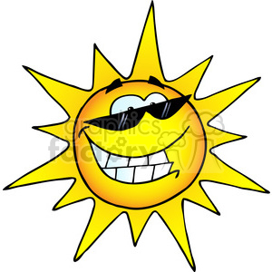 300x300 Royalty Free 12888 Rf Clipart Illustration Smiling Sun