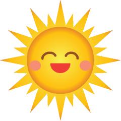 240x240 Smiling Sun Clip Art