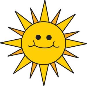 300x295 Smiling Sun Clip Art