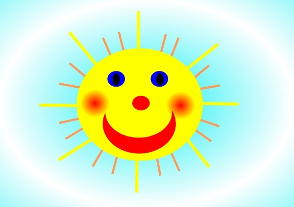 600x423 Smiling Sun Clip Art Free Vector In Open Office Drawing Svg ( Svg