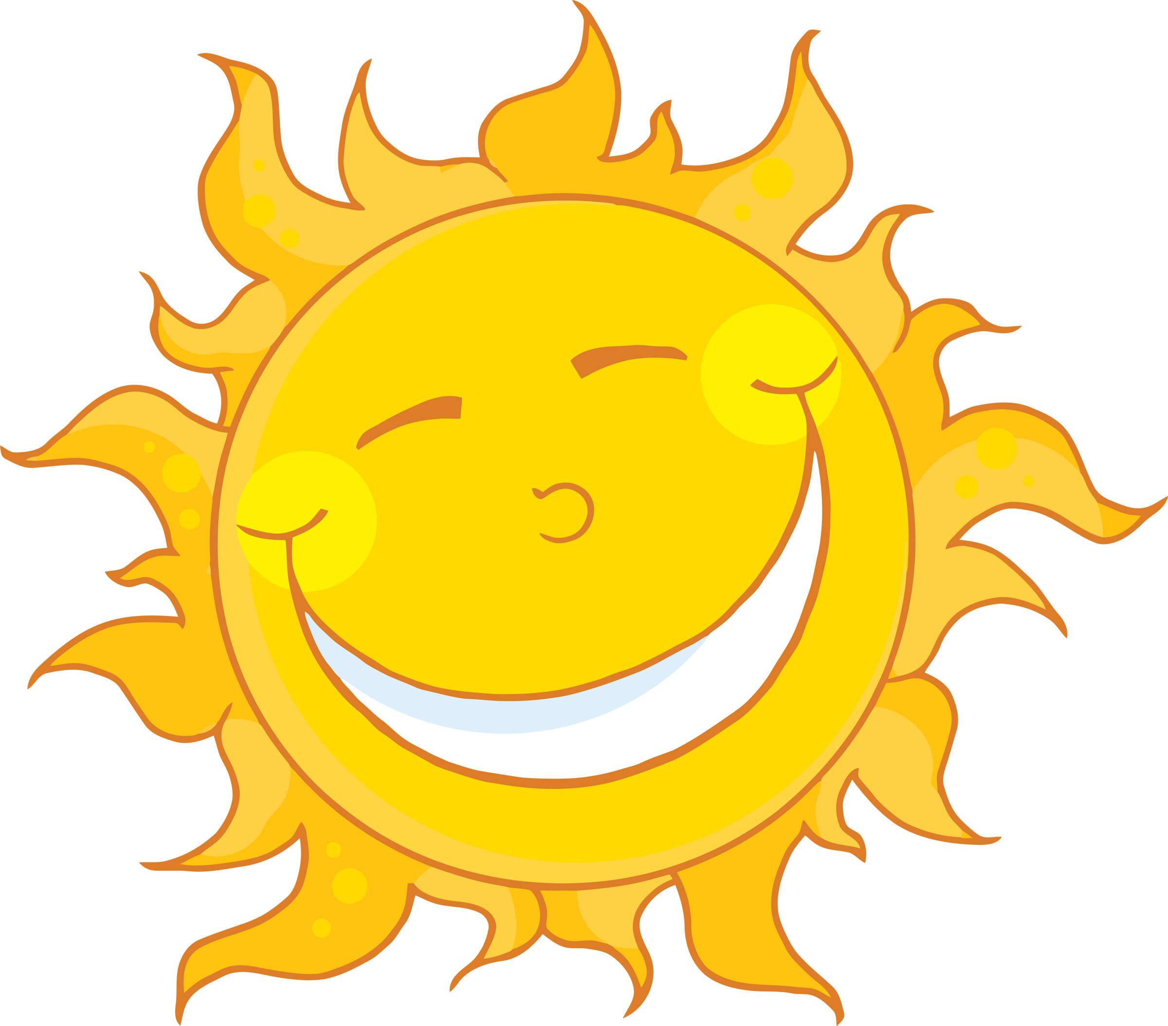 2400x2107 Sunshine Smiling Sun Face Clipart Image