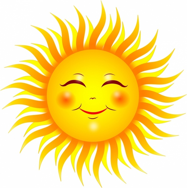 598x600 Calm Clipart Sun Smiling