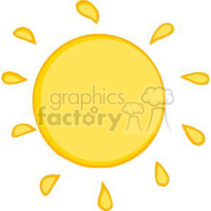 300x300 Royalty Free 2737 Smiling Sun Cartoon Character 380374 Vector Clip