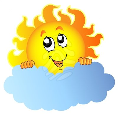 400x393 Sun And Clouds Clipart Many Interesting Cliparts