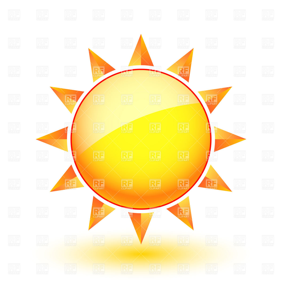 1200x1200 Sunbathing Smiling Sun With Sunglasses Royalty Free Vector Clip