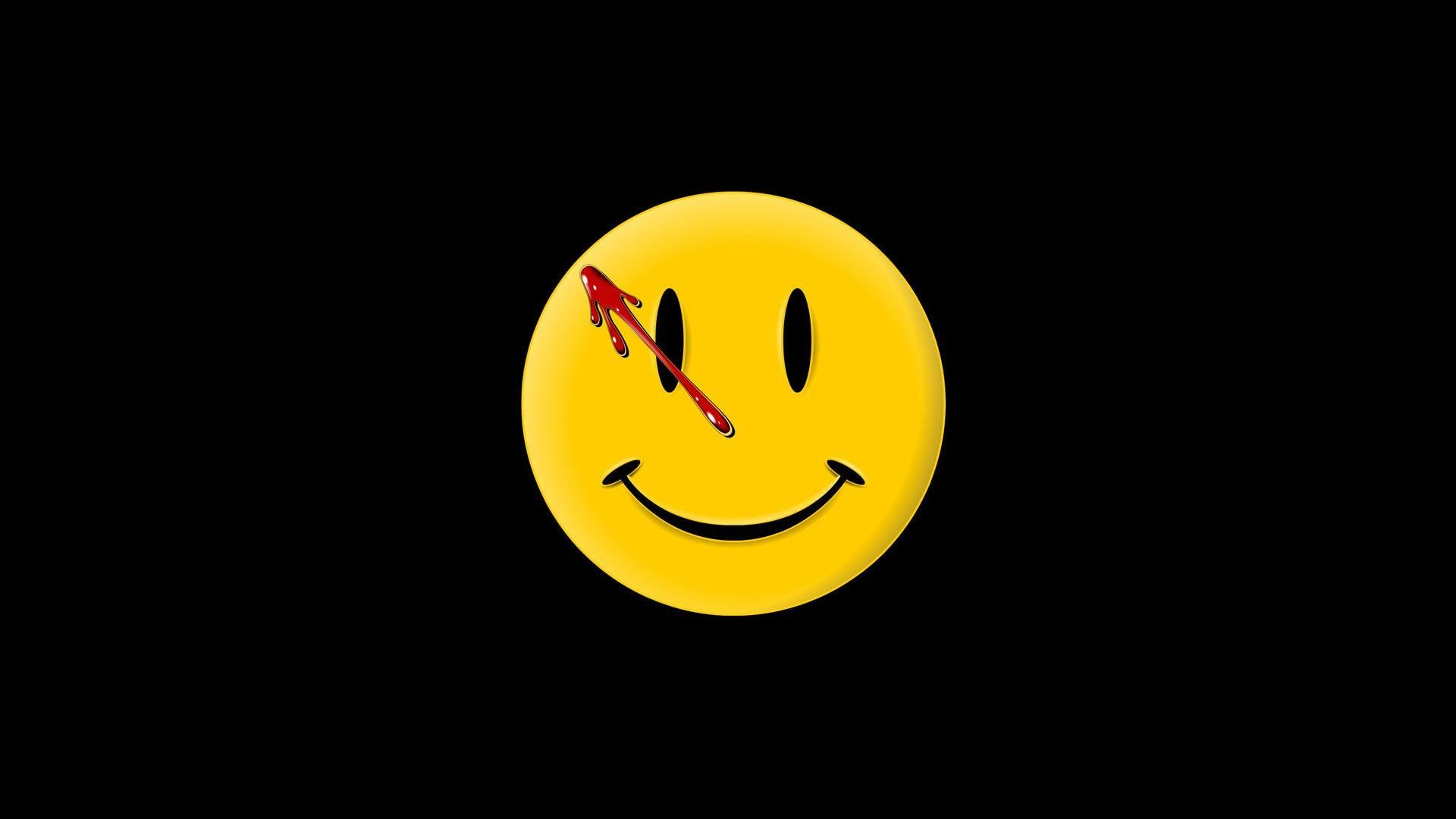 1920x1080 Smiley Face Black Background Pictures)