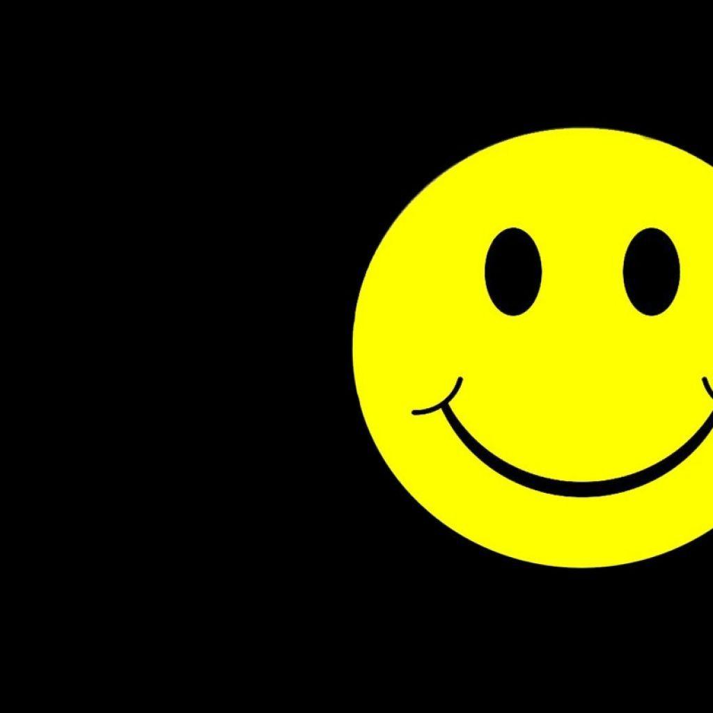 1024x1024 Smiley Face Black Backgrounds
