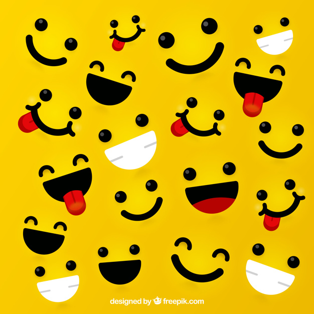 626x626 Yellow Background With Expressive Faces Vector Free Download
