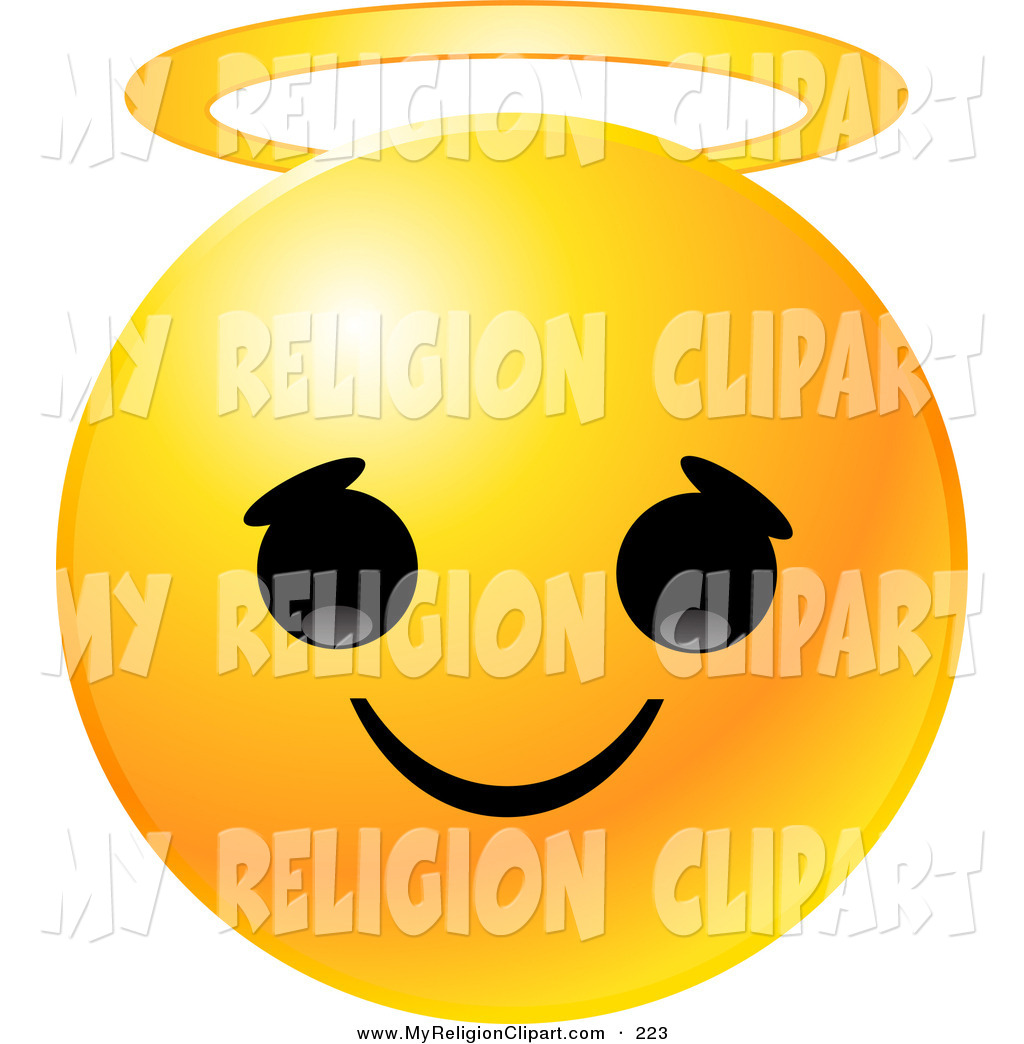 1024x1044 Religion Clip Art Of A Round Yellow Emoticon Face With An Innocent