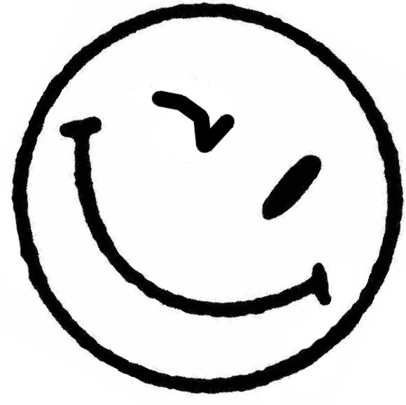 580x578 Wink Happy Face Clipart Image