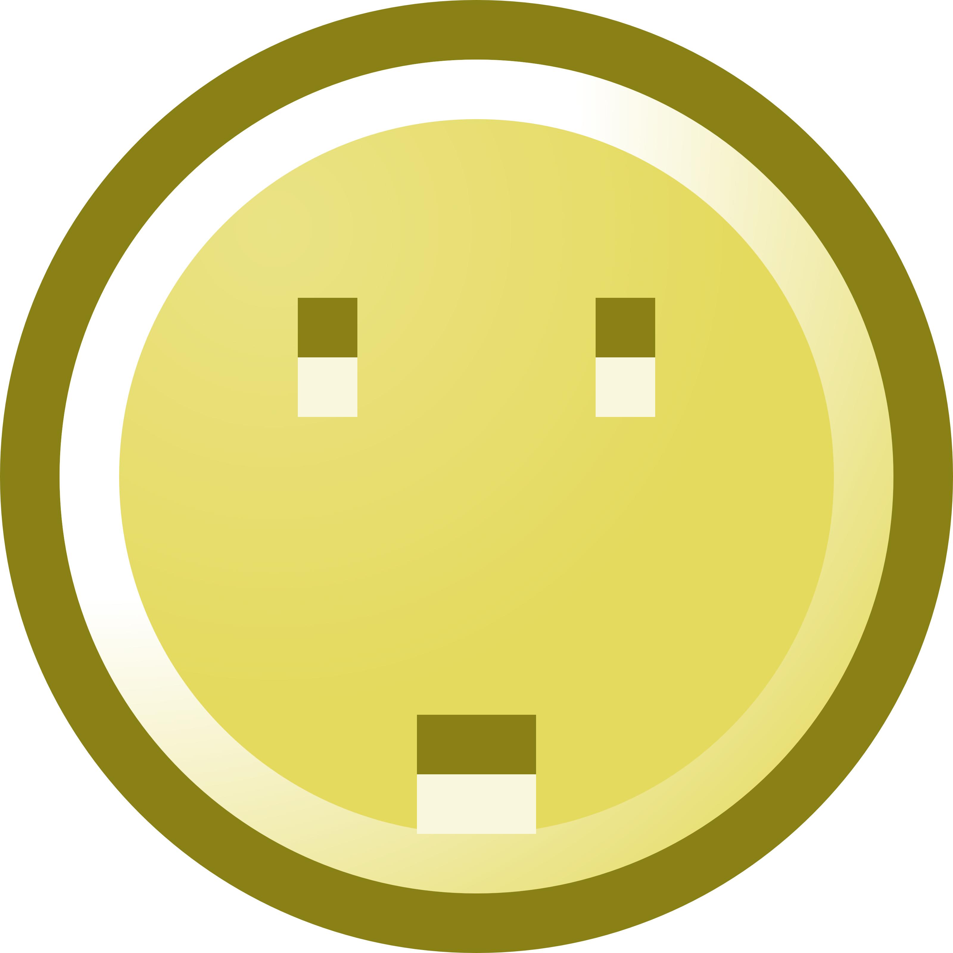 3200x3200 Worried Smiley Face Clip Art Illustration