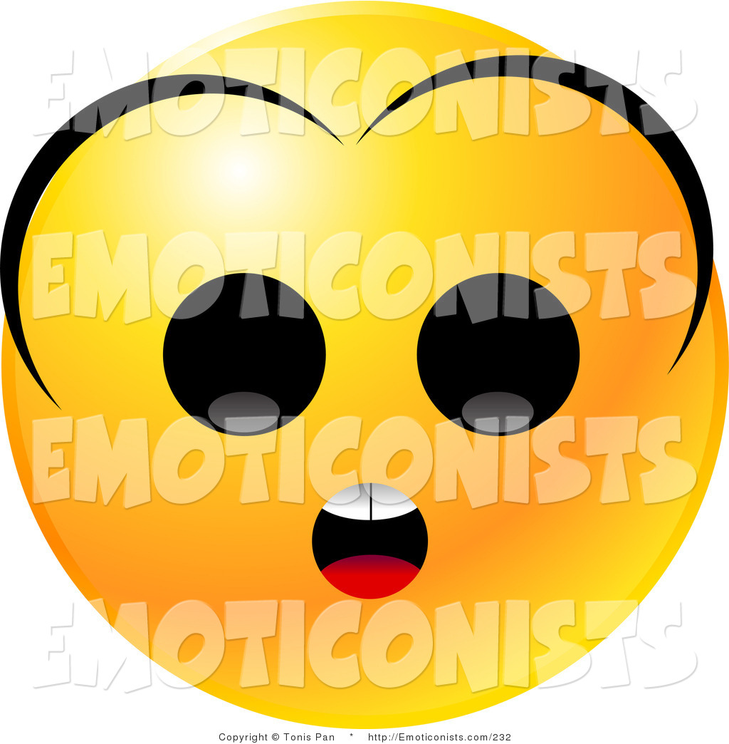 1024x1044 Clip Art Of A Yellow Emoticon Face With A Surprised Expression