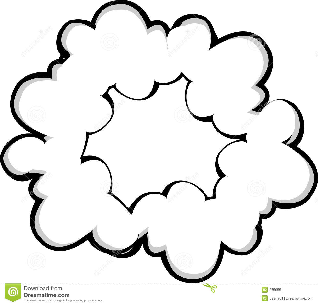 It's just a picture of Dynamite Smoke Cloud Drawing
