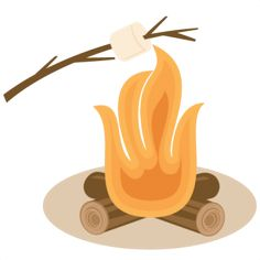 236x236 Bonfire Clipart Roasting Marshmallow
