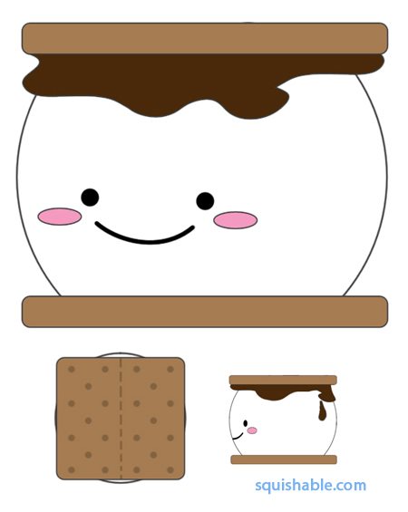 450x565 Black And White S'Mores Clipart