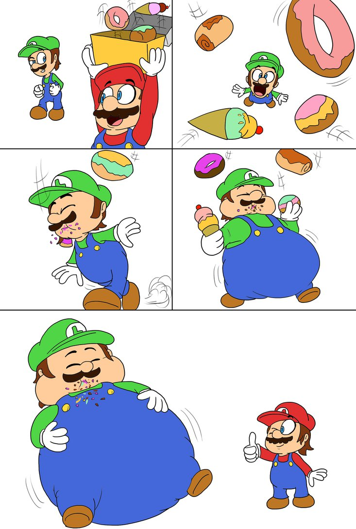 733x1090 Luigi#39s snack time by JuacoProductionsArts on DeviantArt