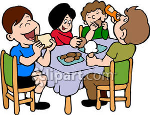 300x231 kids eating snack clipart