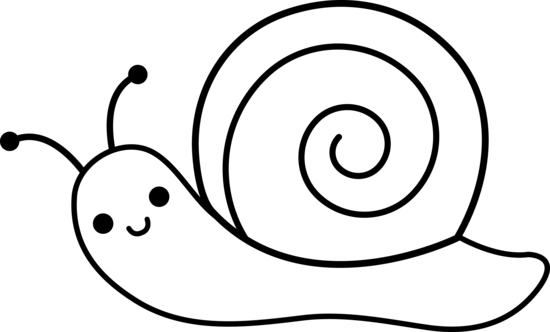 550x332 Snail Drawing Clipart