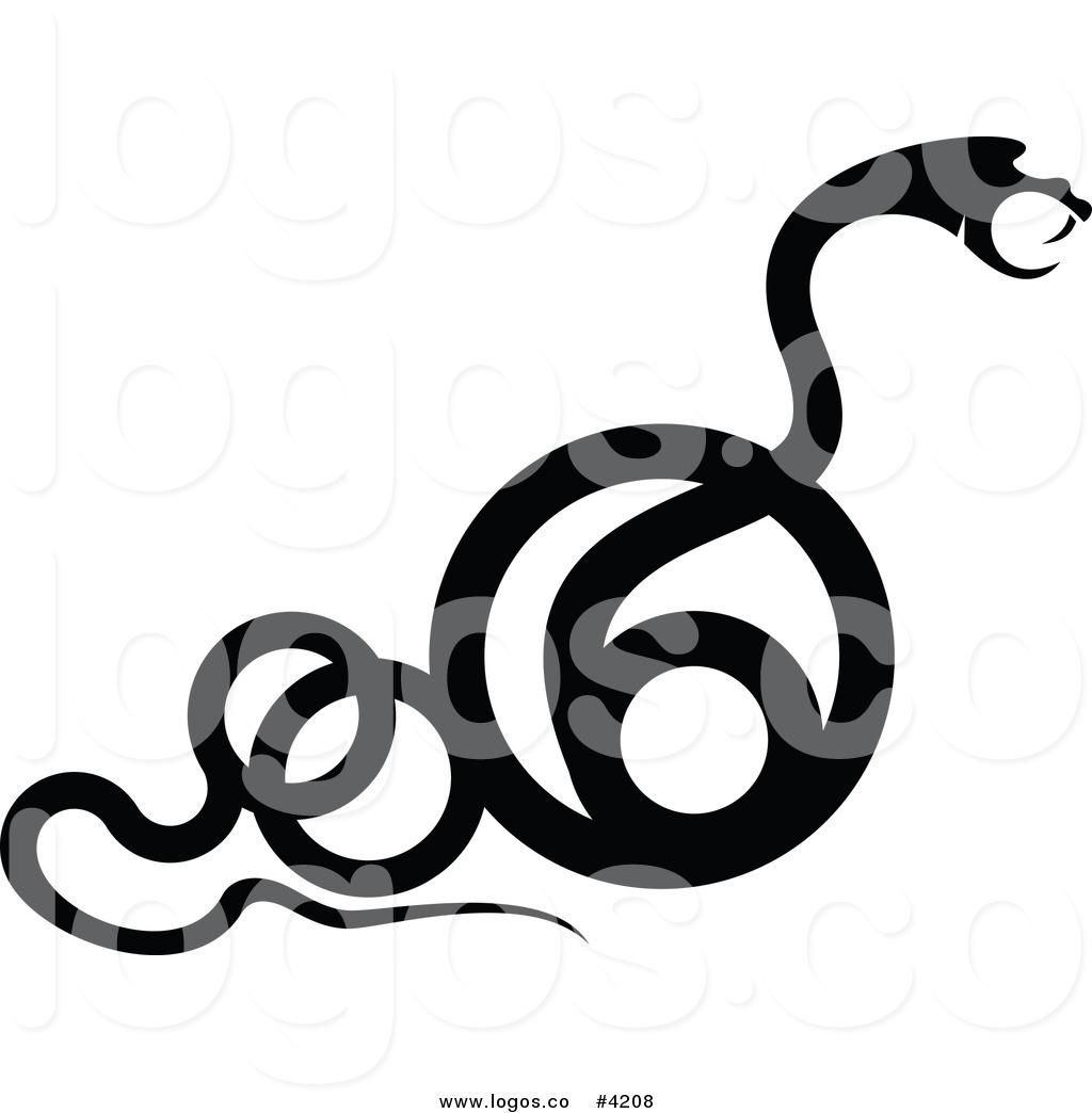 1024x1044 Royalty Free Black Snake Element Logo by Vector Tradition SM