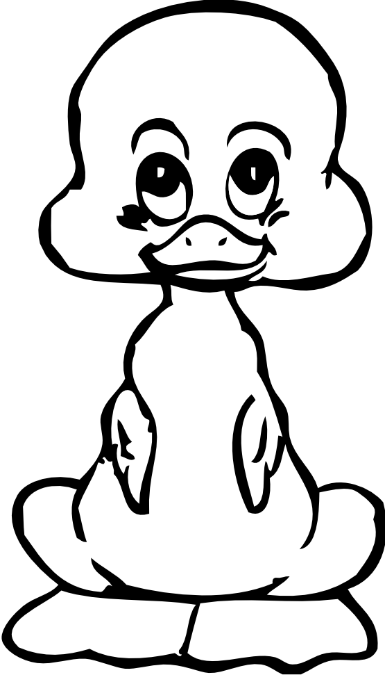 555x971 » Clip Art » baby duck black white line art SVG