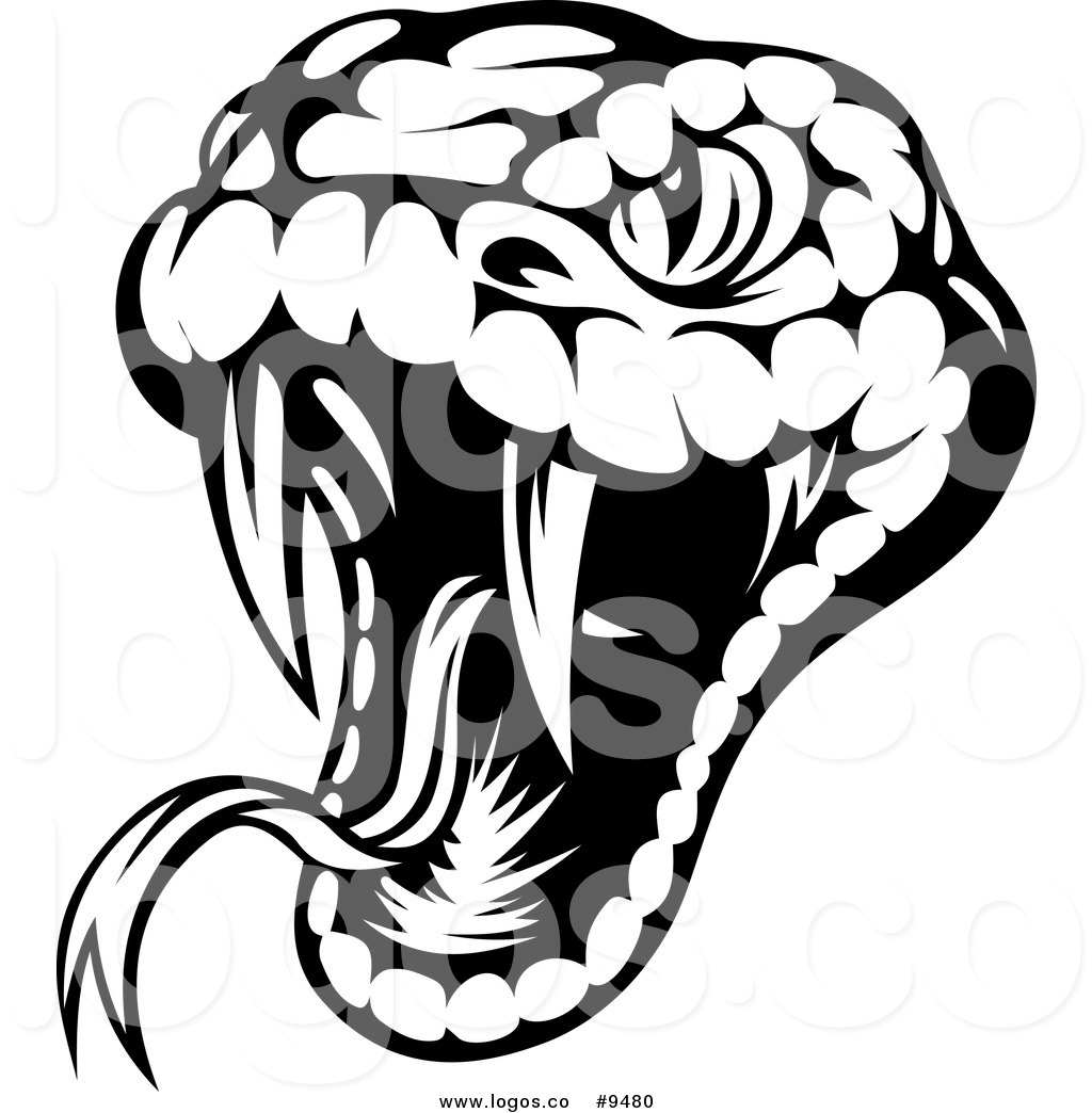 1024x1044 royalty free clip art vector logo of a biting black and white