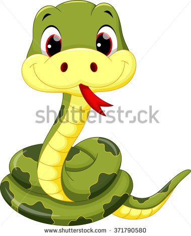 380x470 Young snake clipart